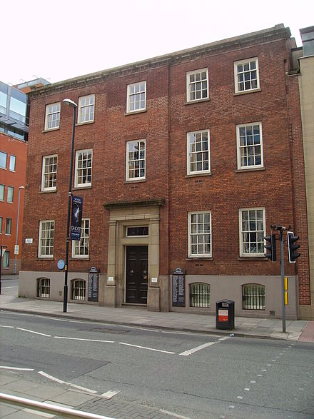 Cobden's Manchester home on Quay Street.