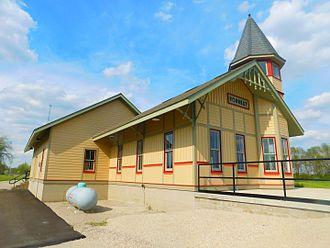Forrest, Illinois - Forrest's Wabash Railroad depot in April 2016