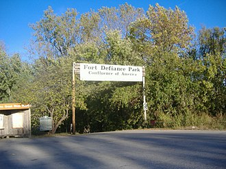 Fort Defiance (Illinois) - Image: Fort Defiance Park entrance