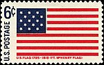 Fort McHenry Flag - Historic Flag Series - 6c 1968 issue U.S. stamp.jpg