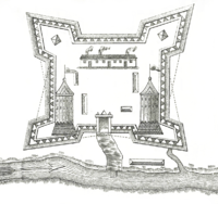 Plan of Fort Saint-Jean during the year 1750