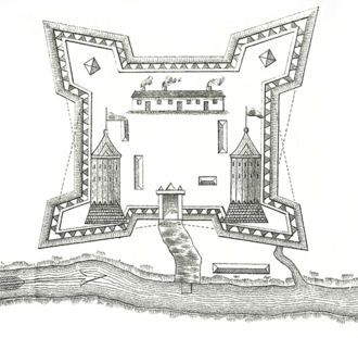 Saint-Jean-sur-Richelieu - Plan of Fort Saint-Jean during the year 1750