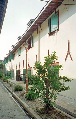 Sunda Kelapa - Old warehouses near Sunda Kelapa port, now the (Maritime Museum).