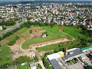 Seventh Fort - Aerial view of the fort in 2011