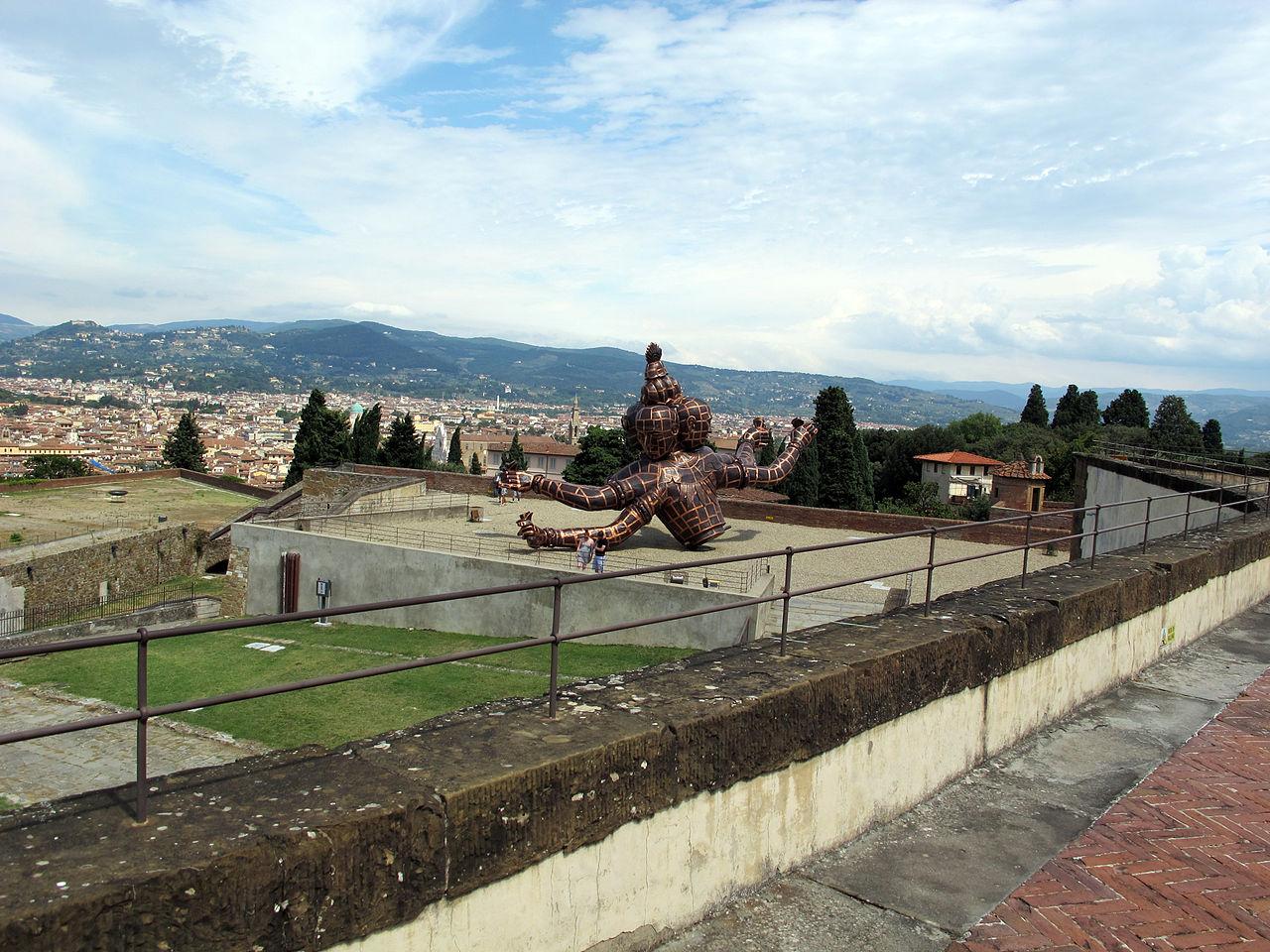 Firenze, Forte belvedere, terazze sui bastioni