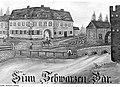 """Fotothek df rp-b 0220009 Torgau. Gasthaus """"Zum Schwarzen Bär"""", ehem. Standort einer Windmühle, Gasthaussc.jpg"""