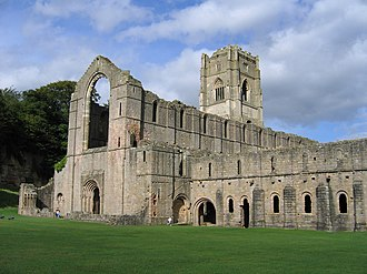 Fountains Abbey - Image: Fountains Abbey view 02 2005 08 27