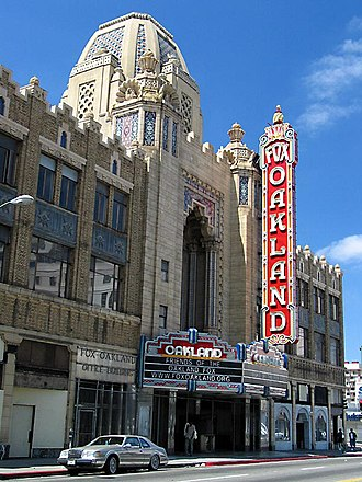 Telegraph Avenue - The Fox Theatre is located on the southern end of Telegraph Avenue, in Downtown Oakland.