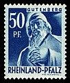 Fr. Zone Rheinland-Pfalz 1948 26 Johannes Gutenberg Denkmal in Mainz.jpg