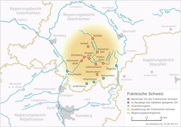 Fränkische Schweiz Karte.Fränkische Schweiz Wikipedia