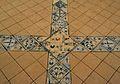 Fragment de paviment de l'església del monestir de Llutxent, Museu de Ceràmica de València.JPG