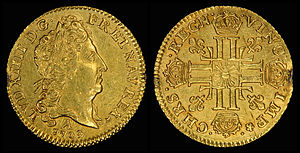 Louis d'or - Louis d'or of Louis XIV (1709)