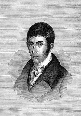 Francisco José de Caldas - Woodcut of Francisco José de Caldas from the Papel Periodico de Bogotá