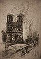 Frank Boggs, Notre-Dame de Paris, vue du quai de Montebello, vers 1906, Musée d'art et d'histoire de la ville de Meudon.jpg