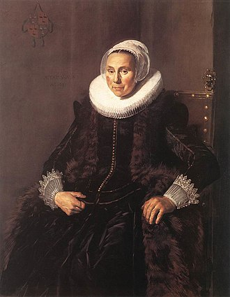 Cornelia Claesdr Voogt - Portrait of Cornelia Claesdr. Vooght, 1631, Oil on panel, 126.5 x 101 cm