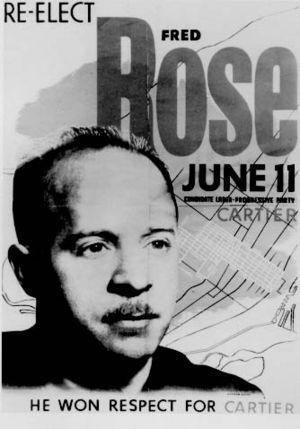 Communist Party of Canada - Fred Rose re-election poster