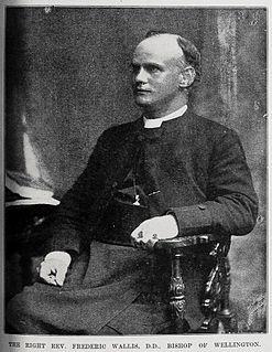 Frederic Wallis Bishop of Wellington; British Anglican colonial bishop