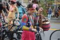 Fremont Solstice Parade 2011 - cyclists prepare 09.jpg