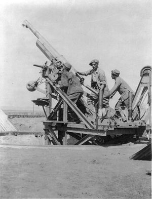 Canon de 75 antiaérien mle 1913-1917 - French canon de 75 mm antiaérien mle 1915 at Salonika in World War I.