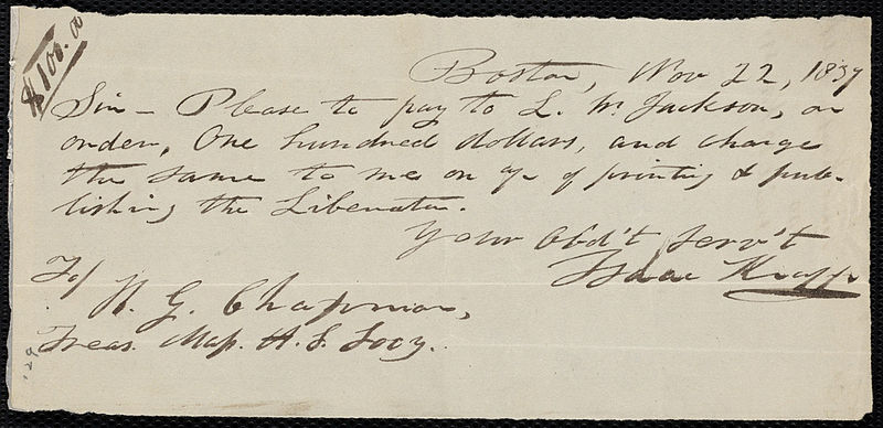 File:From Isaac Knapp to Henry Grafton Chapman; Wednesday, November 22, 1837 p1.jpg