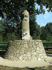 Memorial stone at the Kapellenruh, probably the oldest settlement area in Fürth