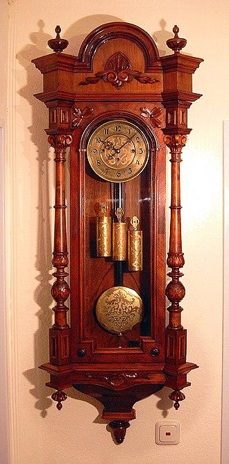 Pendulum clock - Vienna regulator style pendulum wall clock