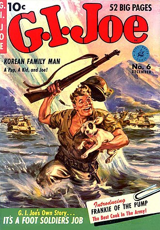 G.I. Joe (comics) - G.I. Joe number 6, Dec. 1951 (Ziff Davis). Artwork by Norman Saunders.