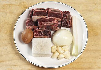 Ingredient - ingredients for short rib soup