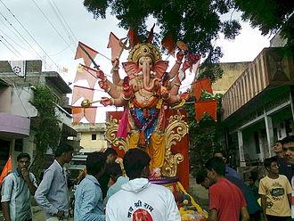 Chinawal - Ganesh Visarjan during Ganesh Chaturthi at Chinawal village in 2014