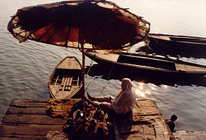 English: Ganga ghat in the morning, Varanasi.