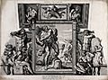 Ganymede, Polyphemus, Acis and Galatea. Etching by P. Aquila Wellcome V0036082.jpg