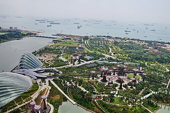 Gardens by the Bay South viewed from Sands Sky Park, Marina Bay Sands Hotel, Singapore.jpg