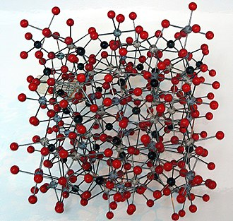 Garnet - Crystal structure model of garnet