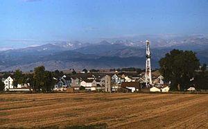 Wattenberg Gas Field - Drilling in the Wattenberg Gas Field north of Denver, 2005.