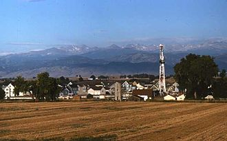 Denver Basin - Drilling in the Wattenberg Gas Field north of Denver.