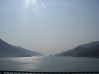 Gastineau Channel from Juneau-Douglas Bridge, Alaska.jpg