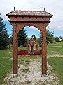 Gate (S) in Historical Memorial Park, Gyenesdiás, 2016 Hungary.jpg
