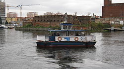 Gdańsk river Motława ferry (2010).jpg