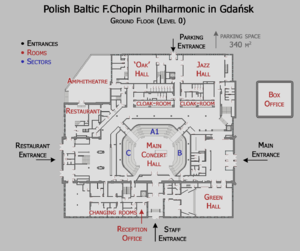 Philharmonic ground level floor map