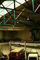 Gebäude 1108 Universität Hannover alte Schmiedehalle IFUM Blick von der Galerie Dach-Stahlkonstruktion 5000kg DEMAG-Hebekran.jpg