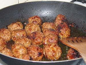 Meatball - Meatballs being cooked