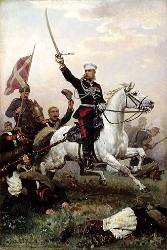 Siege of Plevna - General Mikhail Skobelev on horseback, by Nikolai Dmitriev-Orenburgsky