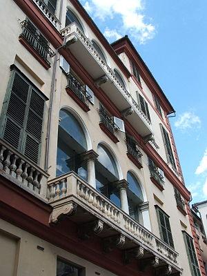 Genova, Via Garibaldi Palazzo Rosso - cortile