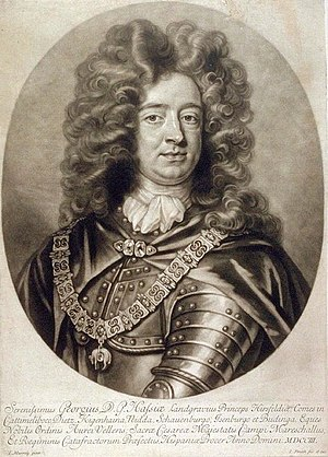 Capture of Gibraltar - Prince George of Hesse-Darmstadt (1670–1705). Prince George was the Imperial representative in the Iberian Peninsula and the nominal commander of the Anglo-Dutch forces