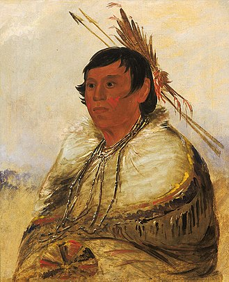 Piankeshaw - Portrait of a Piankeshaw by George Catlin.