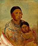 George Catlin - Ru-ton-ye-wee-ma, Strutting Pigeon, Wife of White Cloud - 1985.66.525 - Smithsonian American Art Museum.jpg