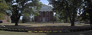 Georgetown, Kentucky - Giddings Hall on campus of Georgetown College.