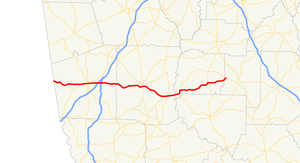 Georgia State Route 109 - Image: Georgia state route 109 map