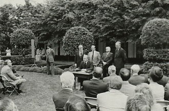 Office of Science and Technology Policy - President Ford signing H.R. 10230, establishing the Office of Science and Technology Policy