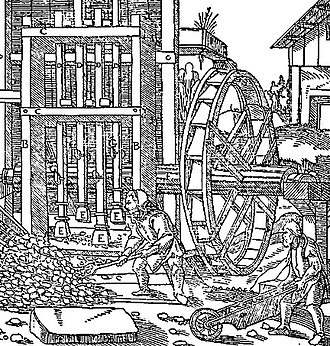 Keswick, Cumbria - German miners sorting copper ore, 16th century